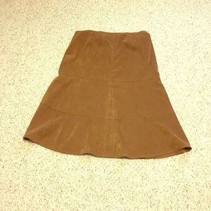 Brown suede skirt 16w